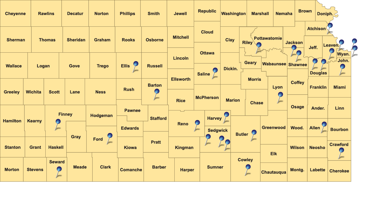 Kansas County Map